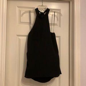 Topshop black tunic top